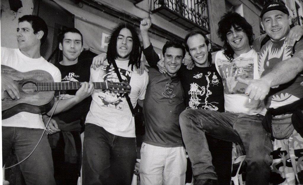 1999 aprox. Madrid. Los Kikes & Manu Chao Band.
