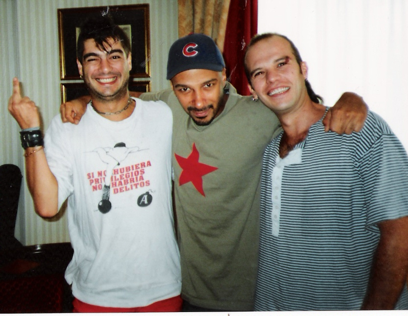 1999. Madrid. Los Kikes & Tom Morello de Rage Against The Machine